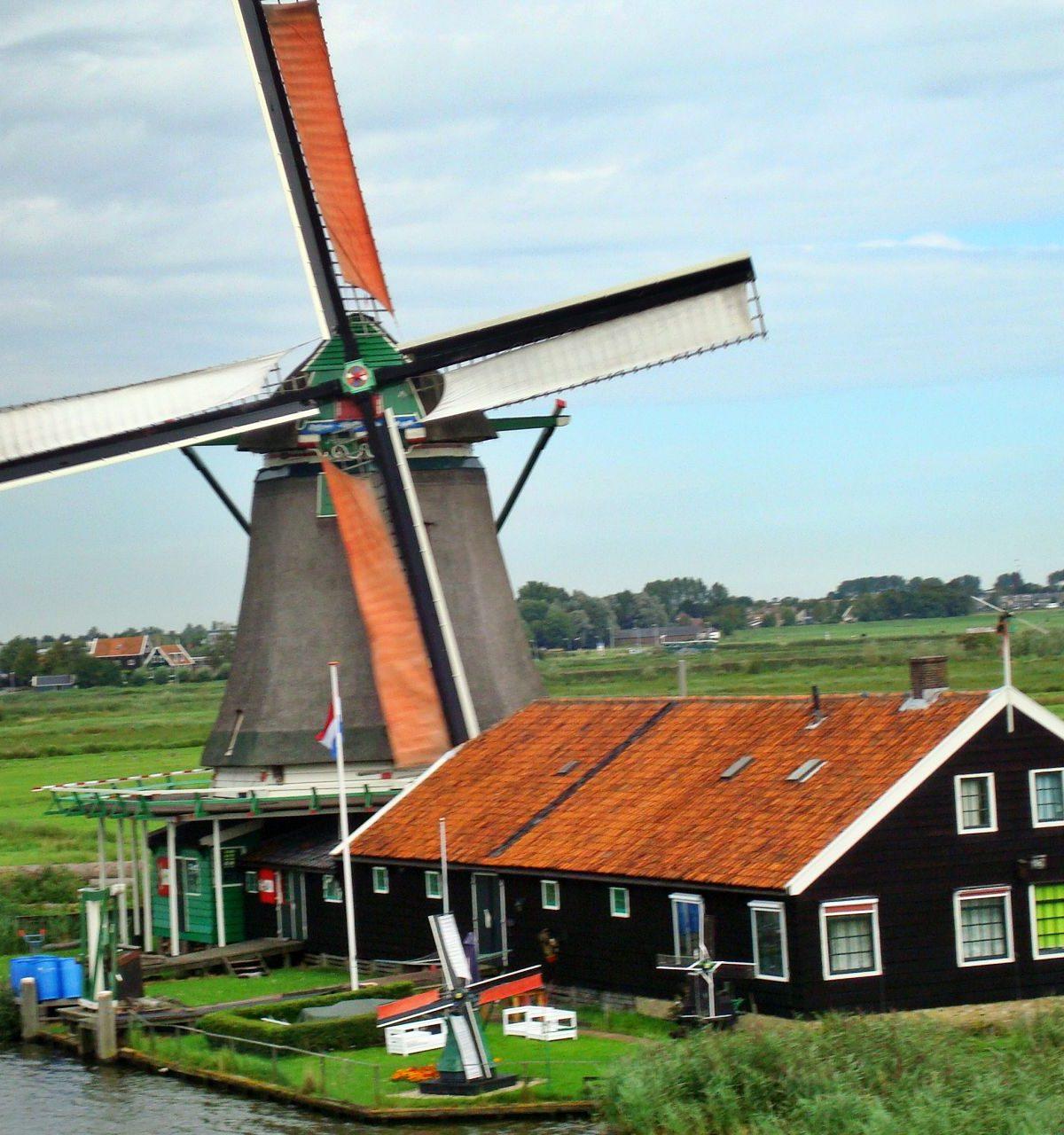 windmolen zaanse schans noord holland hotelb&b lanormande-25